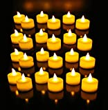#9: Atc Festival Led Tea Light Candles (Pack Of 24) / Party Candles / Led Candles Yellow Flame Less Smoke Free