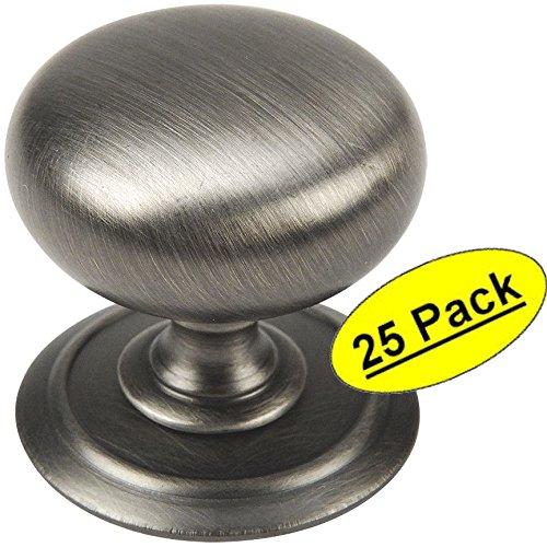 Cosmas 9460 Series Antique Silver Cabinet Handle Pulls: Cosmas® 6542AS Antique Silver Round Cabinet Hardware Knob