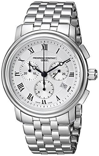 Frederique Constant FC292MC4P6B2 - Reloj para hombres, correa de metal color plateado