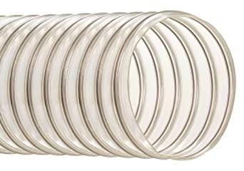 "Hi-Tech Duravent Thermoplastic Polyurethane Static Dissipative Duct Hose, Clear, 6"" ID, 6.2900"" OD, 25' Length"