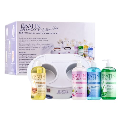 Satin Smooth Ssw08ckit Double Wax Warmer Kit 4 Protective