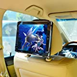 TFY 9-Inch to 10.1-Inch Tablet PC Car Headrest Mount, Fast-Attach Fast-Release Edition, Black