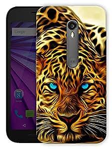 "Humor Gang Leopard Face Printed Designer Mobile Back Cover For ""Motorola Moto G3"" (3D, Matte, Premium Quality Snap On Case)"