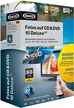 MAGIX Fotos auf CD & DVD 10 Deluxe HD Sonderedition