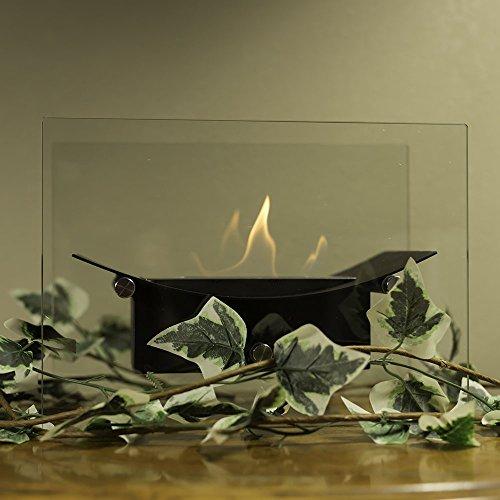 Sunnydaze Jet-black Zen Ventless Tabletop Bio Ethanol Fireplace