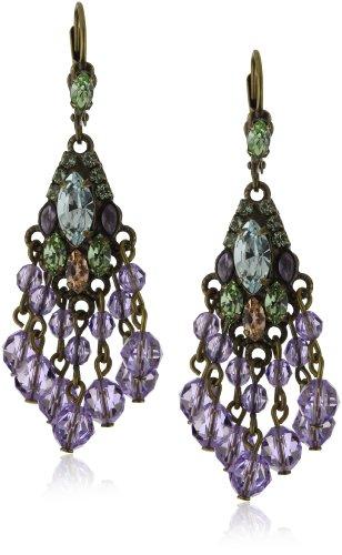 """Sorrelli """"Sweet Dreams"""" Crystal Chandelier Antique Gold-Tone Earrings"""