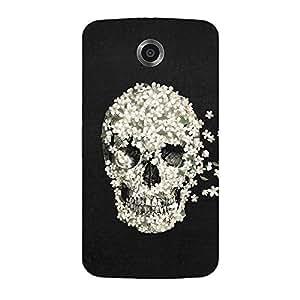 Back cover for Moto E (1st Gen) Floral Skull