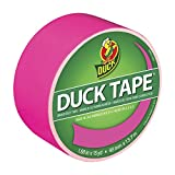 Duck Brand 1265016 Neon Colored Duct Tape, Pink, 1.88-Inch by 15 Yards, Single Roll
