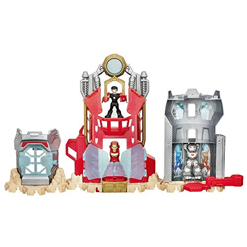 Playskool Heroes Marvel Super Hero Adventures Iron Man Armor Up Fortress (Marvel Iron Man Suits compare prices)