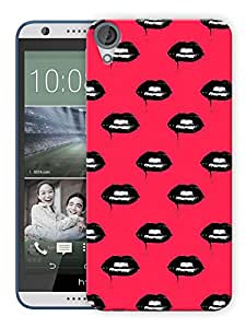 "Humor Gang Dark Gothic Lips Printed Designer Mobile Back Cover For ""HTC DESIRE 820"" (3D, Matte, Premium Quality Snap On Case)"