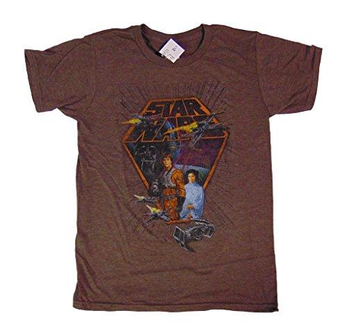 StarWars Vintage design Shirt Brown Heather 0