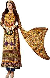 Begum Riwaaz Women's Georgette Unstitched Dress Material(1107, Blue)