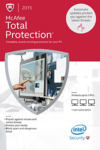 McAfee Total Protection 2015 – 3 PCs [Online Code] image