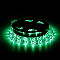 BZONE 1m Green Waterproof Flexible USB LED Light Strip Ribbon 3528SMD 60 LEDs