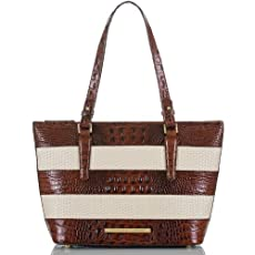 Medium Asher Tote<br>Pecan Raffia Vineyard