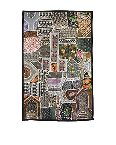Uptown Down One-of-a-Kind Panel of Vintage Tribal Collars, Multi