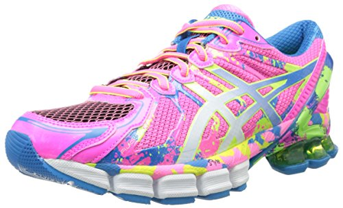 ASICS Women's Gel-Sendai 2 Running Shoe,Hot Pink/White/Flash Yellow,9.5 M US