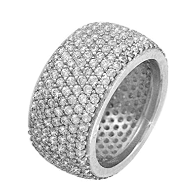 Studio 54 Women's Ring in White 925 Sterling Silver with White Cubic Zirconia