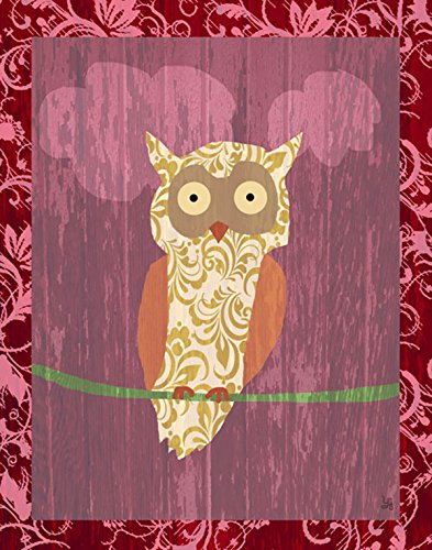 Green Leaf Art Owl I Canvas Art, Small