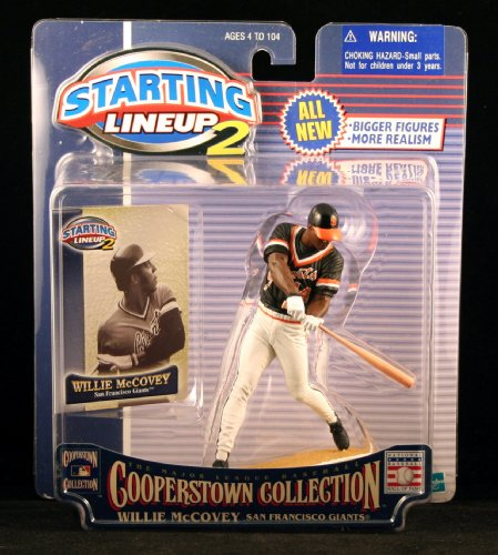 WILLIE MCCOVEY / SAN FRANCISCO GIANTS 2001 MLB Cooperstown Collection Starting Lineup 2 Action Figure & Exclusive Trading Card - 1