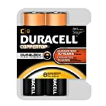 Duracell Coppertop Alkaline Batteries, C, 8 ct.