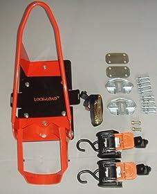 Lock 'N Load BK 100 Deluxe Wheel Chock Plus Self Tightening Cargo Buckles