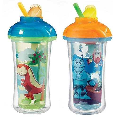 Munchkin Click Lock Insulated Straw Cup 10oz - 2pk (Boy) - 1