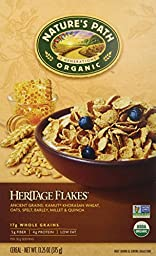 Nature\'s Path Organic, Heritage Flakes, Whole Grains Cereal, 13.25-Ounce Boxes (Pack of 6)