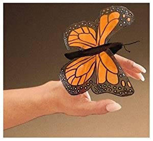 Folkmanis Mini Monarch Butterfly 4in Finger Puppet from Folkmanis Puppets