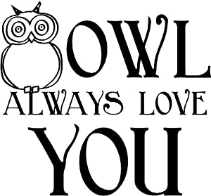 Amazon.com - (OWL 2) Owl Always Love You wall saying vinyl ...