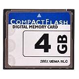 【東芝製チップ】採用オリジナルブランドCompactFlash CFカード コンパクトフラッシュ 4GB 200X 200倍速 UDMA対応 LP-E4N/LP-E6/EN-EL4a/EN-EL3e/D-Li90/K-5/K-7/D-Li50/BP-511A/20D/30D/40D/50D