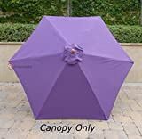 9ft Umbrella Replacement Canopy 6 Ribs in Purple (Canopy Only)