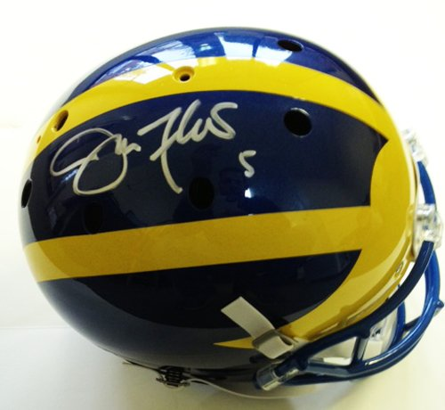 Joe Flacco Signed Full Size Delaware Helmet - Autographed College Helmets