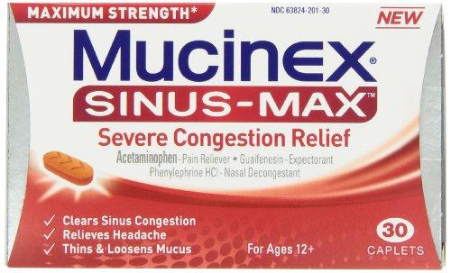 Mucinex Sinus Max Congestion Relief Caplets,