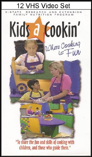 Kids A Cookin': Where Cooking Is Fun (To Share The Fun And Skills Of Cooking With Children, And Those Who Guide Them) [12 Vhs Video Series] English/Spanish