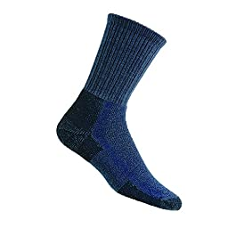 Thorlo Unisex Wool/Thorlon Thick Cushion Hiking Sock, Dark Blue,Size Large