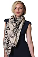Women's Twig Twig Birds Natural Soft Cotton Fashion Scarf Shawl