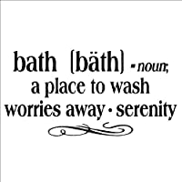 Bath -noun a place to wash worries away - serenity 12.5