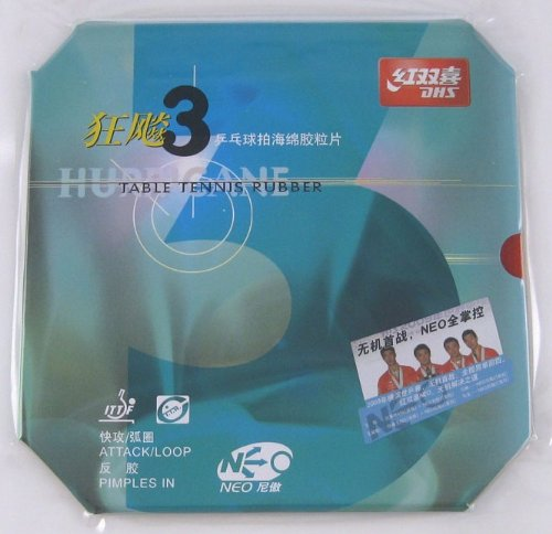 New DHS NEO HURRICANE-III Pips-In Table Tennis Rubber, Double Happiness (DHS)
