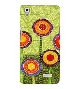 PrintVisa Flower Design Art 3D Hard Polycarbonate Designer Back Case Cover for Oppo R7