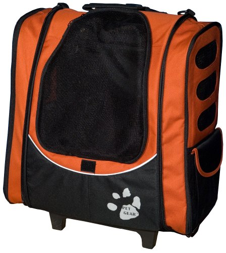 Pet Gear I-GO2 Escort Roller Backpack for cats and dogs up to 15-pounds, Copper