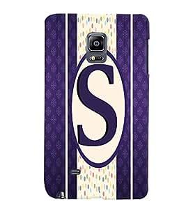 Fuson 3D Printed Alphabet S Designer back case cover for Sansung Galaxy Note Edge - D4387