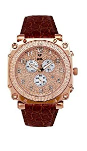 NEW! Aqua Master Men's Round Cargo Diamond Watch, 1.25 ctw