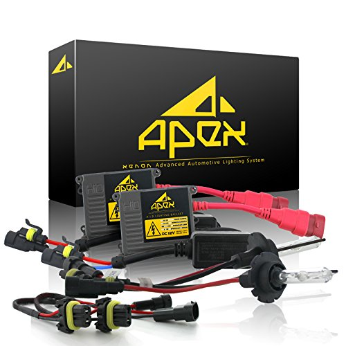 Apex 9005 / HB3 Xenon Hid Conversion Kit ( 6k 6000k Diamond White ) with