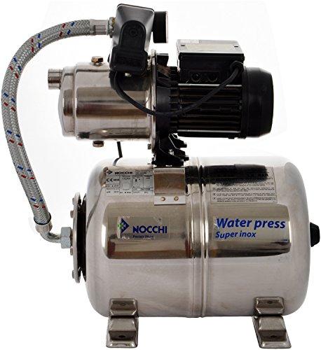 Nocchi Stainless Steel Booster Pressure Pump - 42 Cm X 30 Cm X 60 Cm, Silver