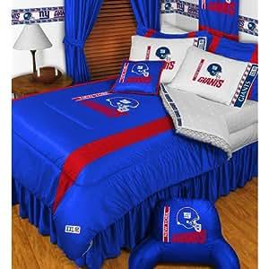 NFL New York Giants Comforter Set 3 Pc Queen Full Bedding