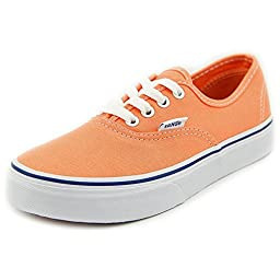 Vans Authentic Ox Youth US 2.5 Orange Sneakers