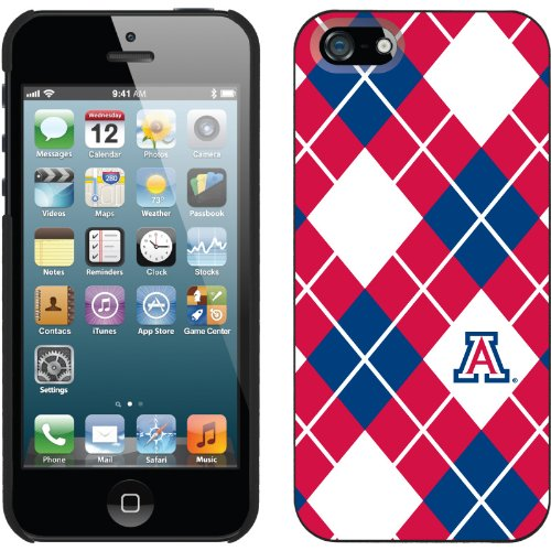 Special Sale University of Arizona Argyle design on a Black iPhone 5s / 5 Thinshield Snap-On Case by Coveroo