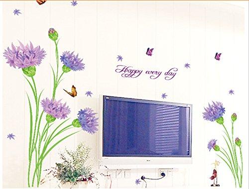 carnation-fleurs-papillons-papier-maison-autocollant-mural-amovible-cuisine-salon-salle-a-manger-cha