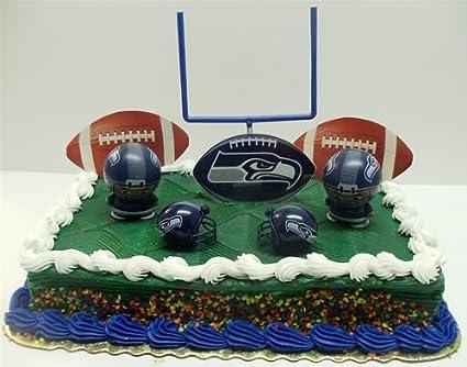 Seahawk Cake Toppers Seahawks Birthday Cake